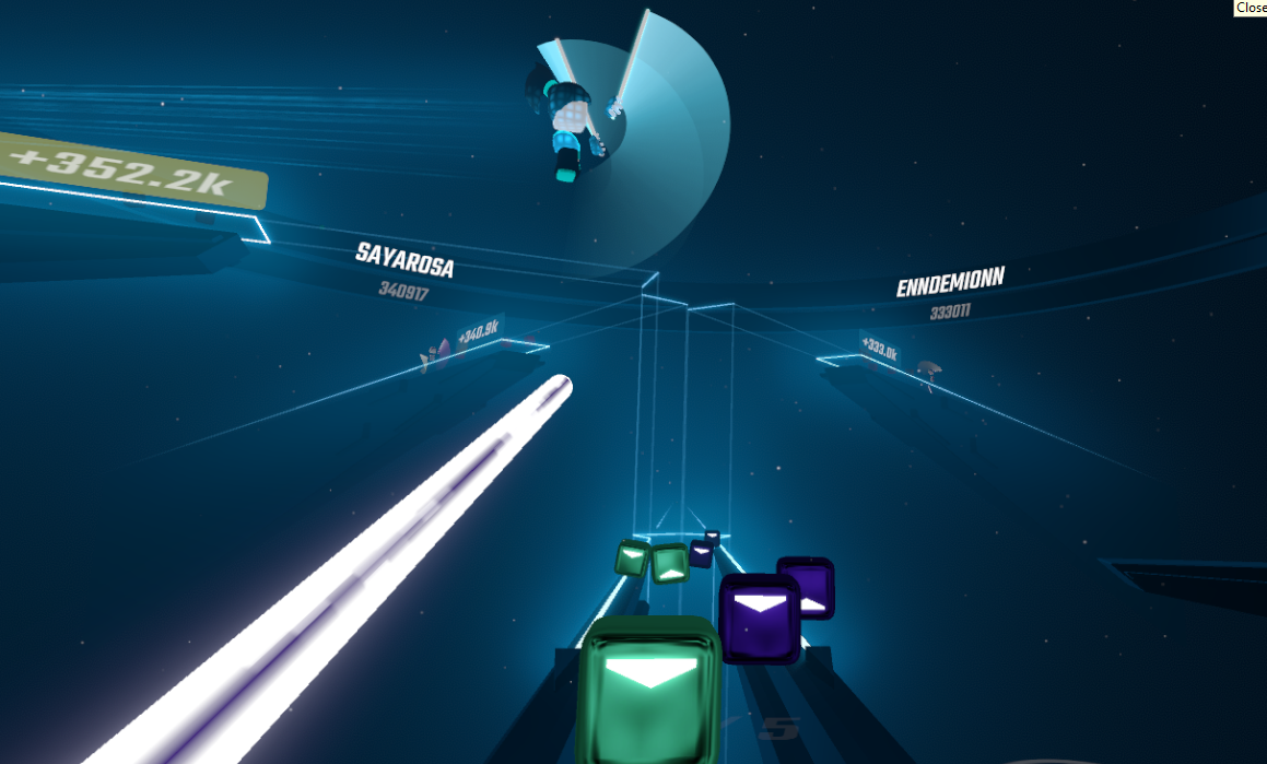 Beat Saber Multiplayer in action
